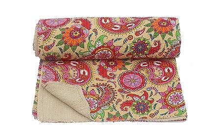 Amazon Com Bhawana Handicrafts Beige Queen Size Indian Cotton