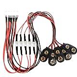 20 x Pre wired 9v 5mm Amber Orange LEDs Prewired 9 volt DC LED Light RC 8v 7v