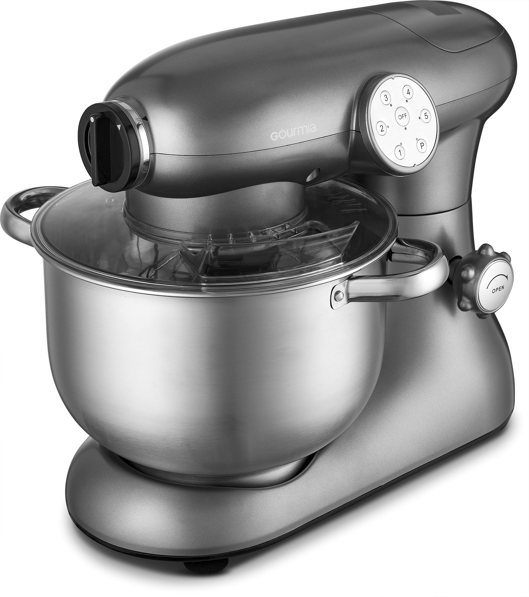 Gourmia EP700 7-Quart 6 Speed Stand Mixer, Planetery Action with Stainless Steel Bowl by Gourmia (Image #3)