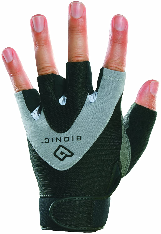 PAIR FG13MXL Bionic Gloves Mens Half Finger Fitness//Lifting Gloves Black