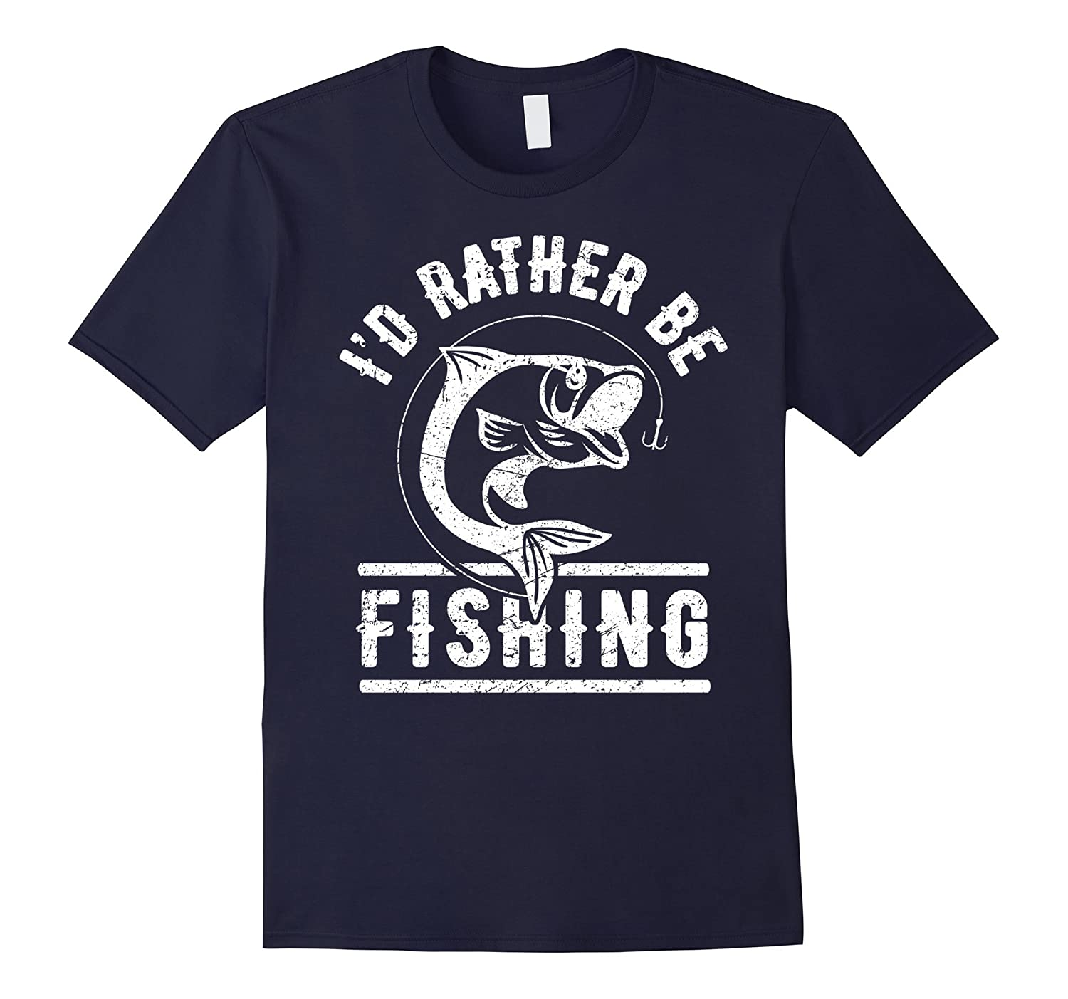 ID Rather Be Fishing Shirt Funny Fisherman Gift T-Shirt-TD