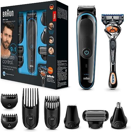 Cuchillas afiladas de larga duración para el recorte de la barba y del cabello,13 ajustes de longitu