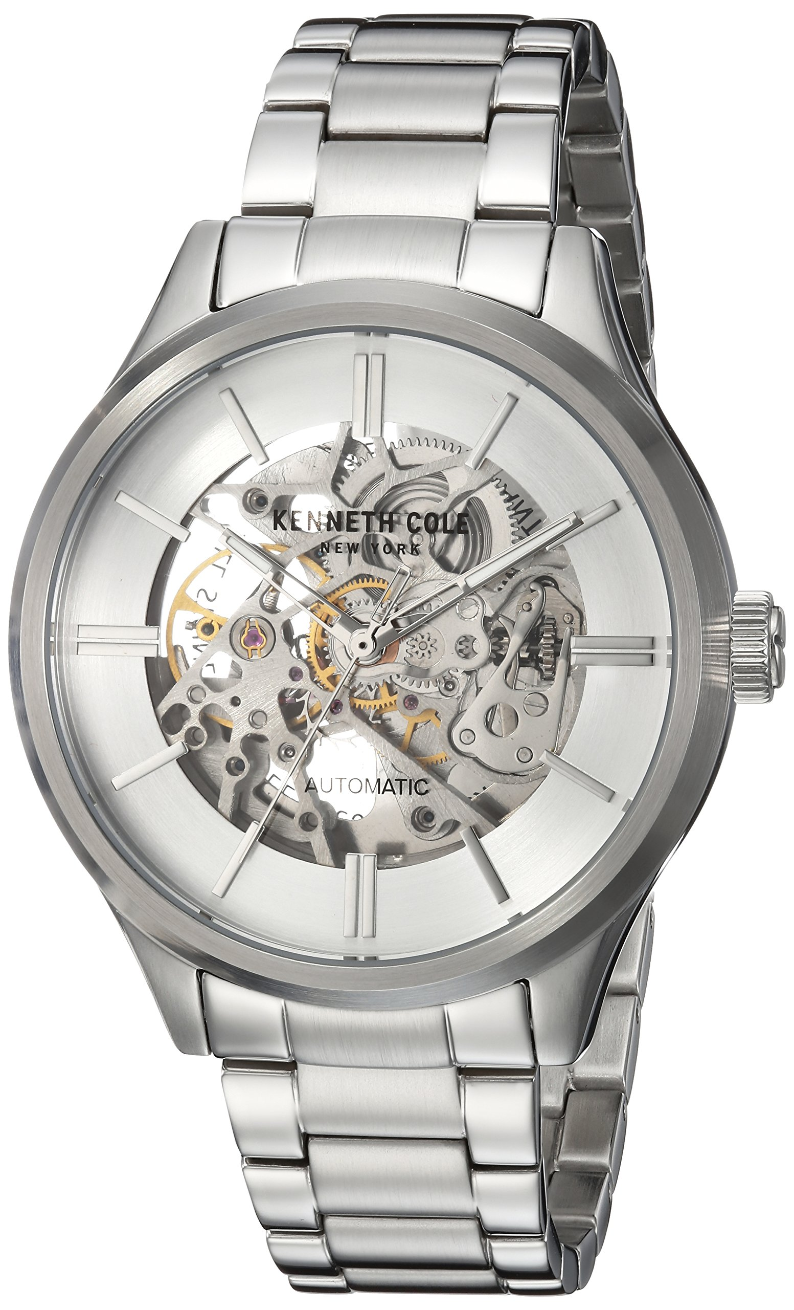 Kenneth Cole New York Men's Automatic Stainless Steel Casual Watch, Color:Silver-Toned (Model: KC15171002) by Kenneth Cole New York