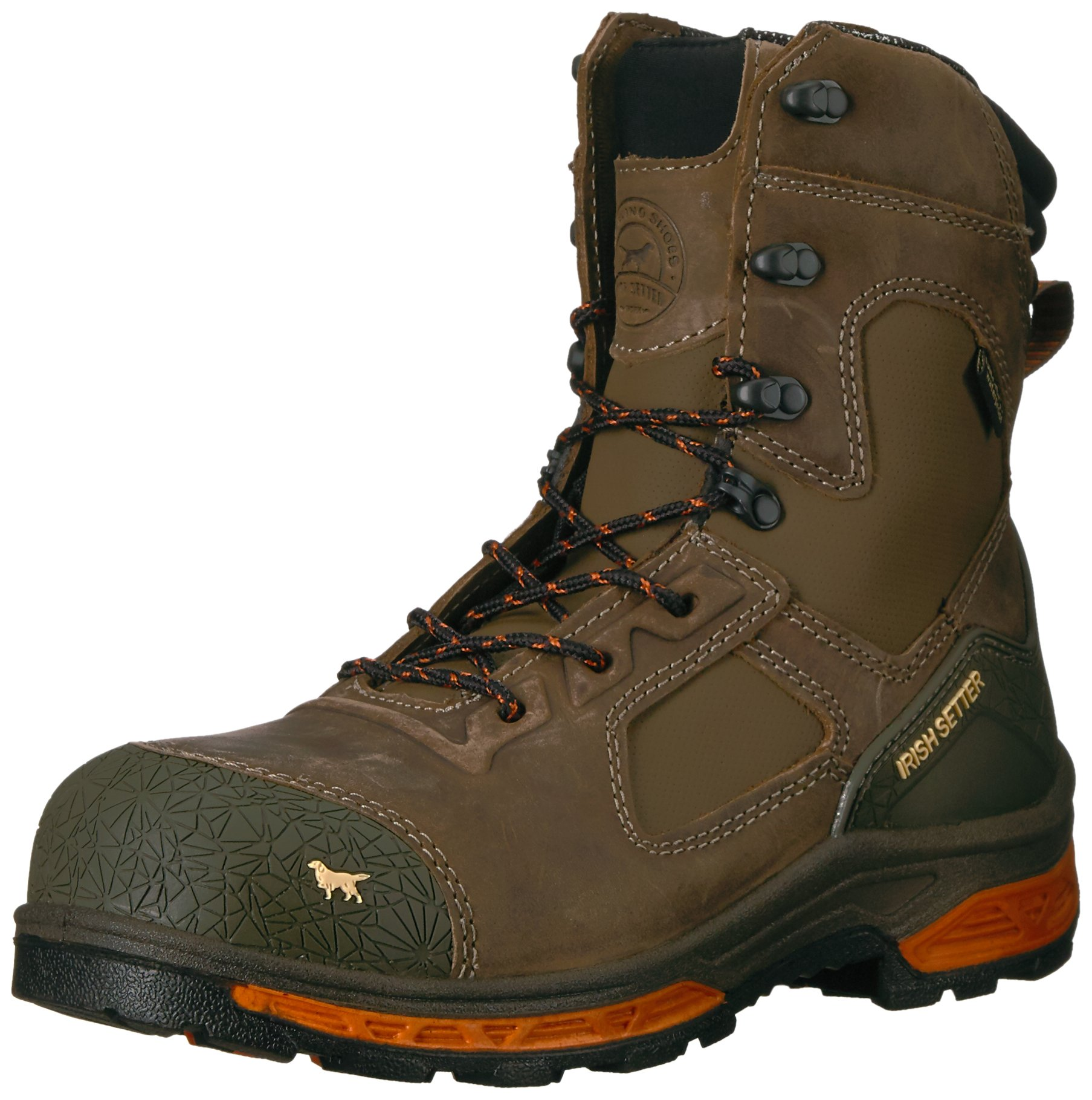 Irish Setter Work Men's Kasota 8'' Waterproof Safety Toe Work Boot, Brown, 11 D US