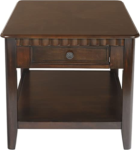 New Classic Furniture Edgemont Distressed Walnut End Table