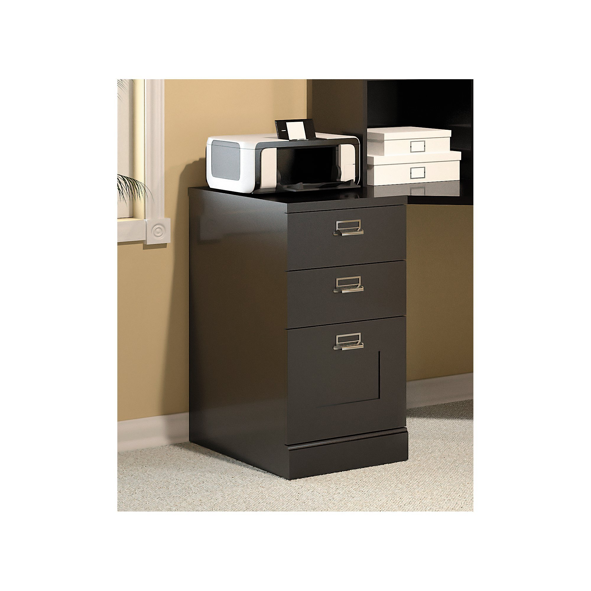 Bush Furniture Stockport 3 Drawer File Cabinet in Classic Black by Bush Furniture