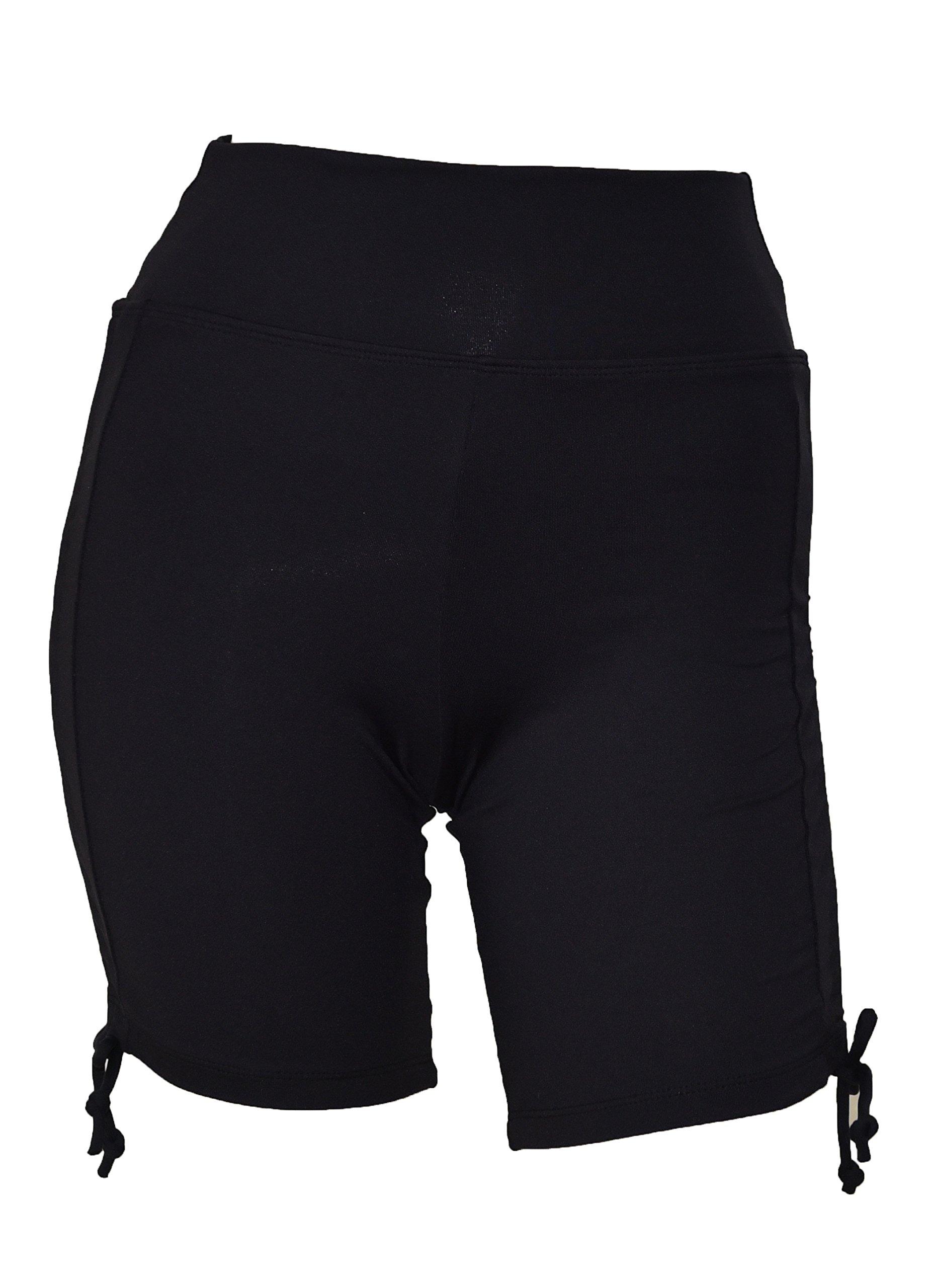 Private Island Women UV Swim Rash Guard Board Shorts Pants Yoga (XXXL, Black) by Private Island