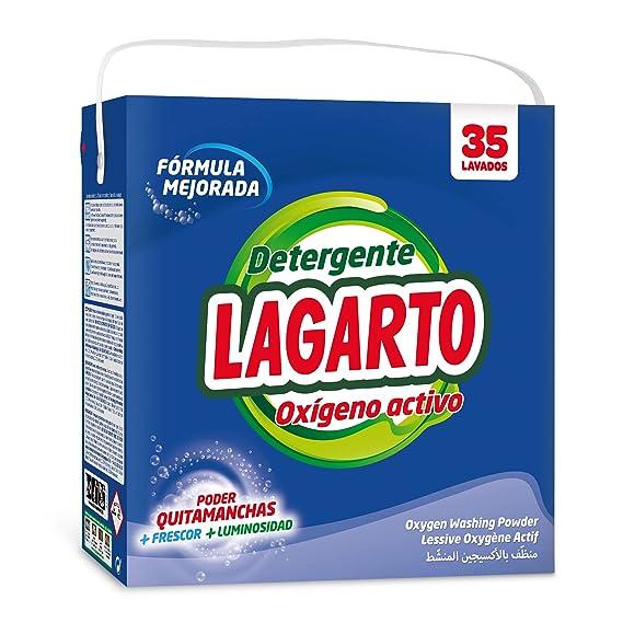 Lagarto Detergente en Polvo para Lavadora con OXIGENO ACTIVO, 30+5 ...
