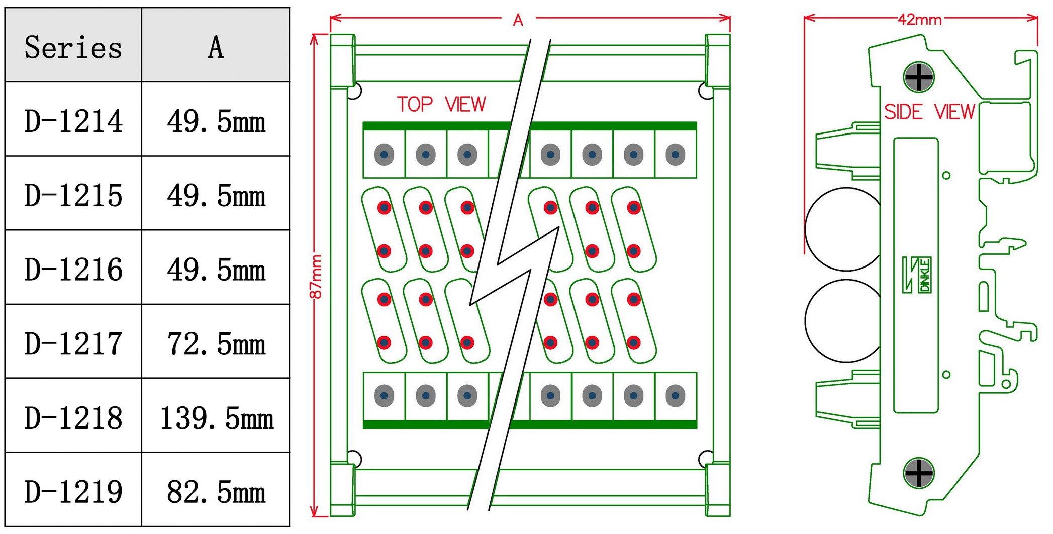 Chunzehui DIN Rail Mount 275V SIOV Metal Oxide Varistor Interface Module, 16 Channels Common. by Chunzehui (Image #4)