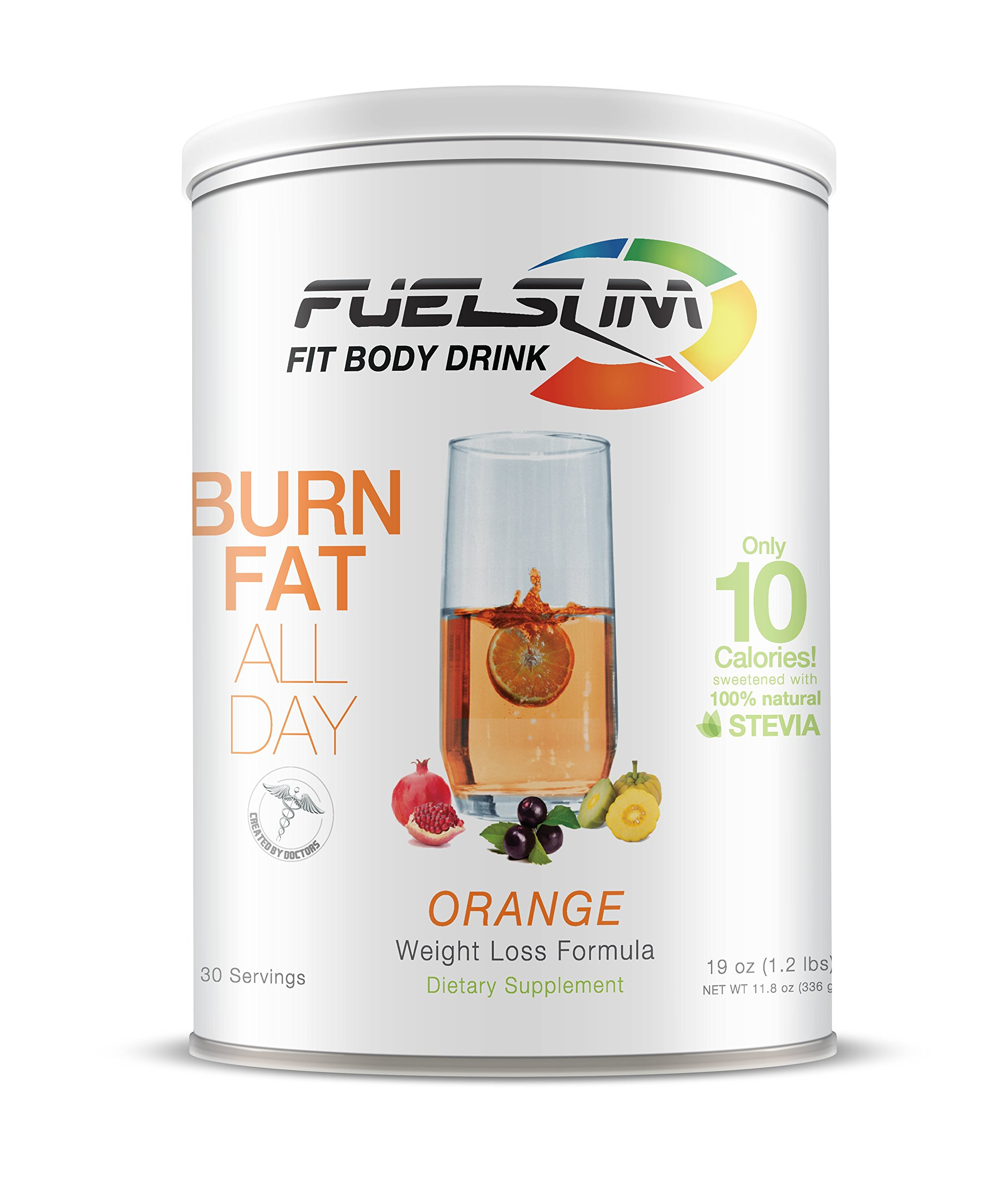 Fuelslim #1 Weight Loss Supplement Over 10,000 Sold!!! Amazing Results Lose Weight Fast Burn Fat Appetite Suppressant Sugar Free Kosher Gluten Free Reduce Hunger (orange)