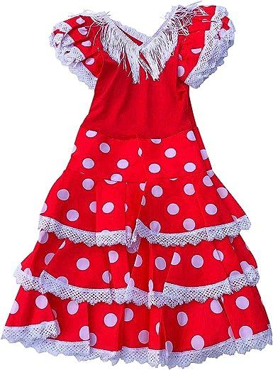 La Senorita Vestido Ropa Flamenco Niño Español Traje de Flamenca ...