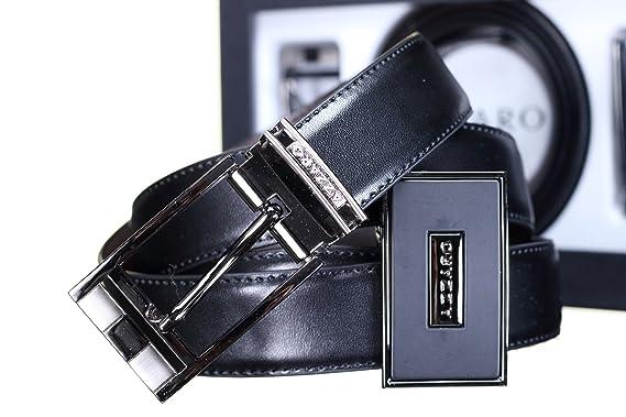 dcdc8dcffc01 Azzaro - Ceinture Coffret 2 Boucles 786 Reversible Noir Marron - Couleur  Noir - Taille