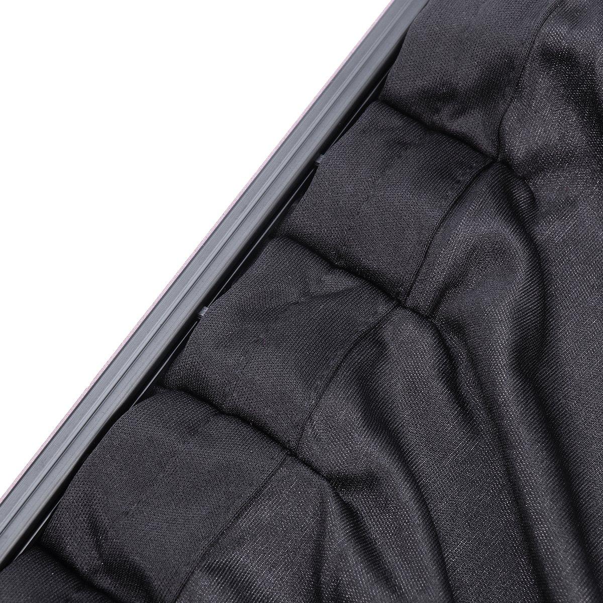 WINOMO 2pcs Car Side Window UV Protection Curtain Sun Shade Vehicle Slidable Window Shield for Sedan SUV