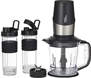 Davis & Waddell Essentials Electric Food Processor/Personal Blender/Travel Blender/Smoothie &Juice Maker - 500W with Silicone Grip Tritan Bottles