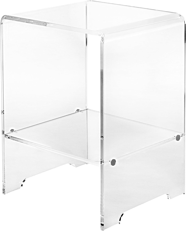 Iplex Design Mesa Auxiliar Accanto Transparente: Amazon.es: Hogar