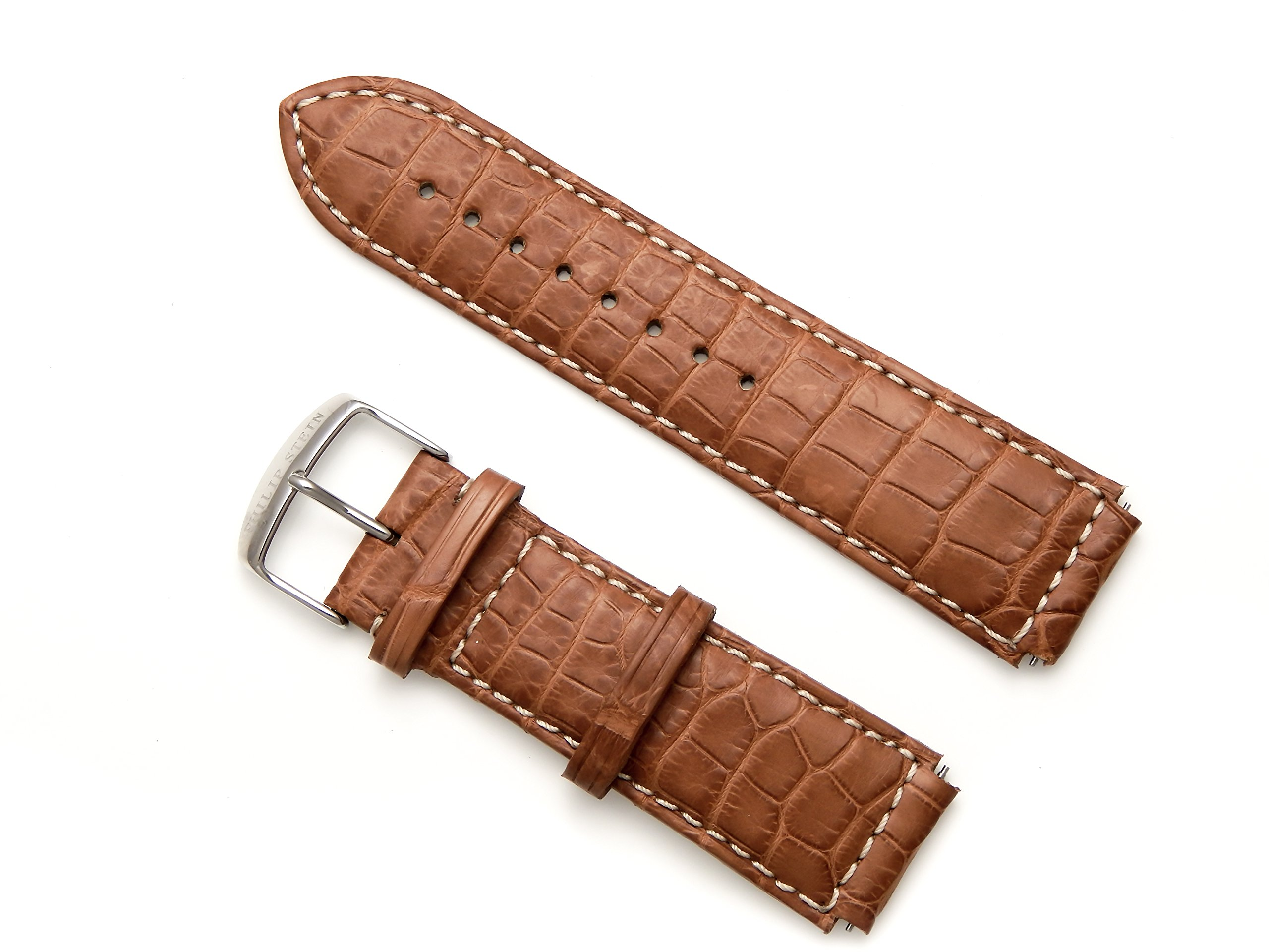 Philip Stein Shiny Brown Alligator Watch Band