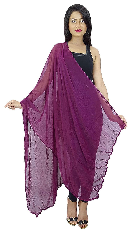 Indian Chiffon Mischung Schals Frauen-Ansatz-Verpackung Chunni Lange Dupatta Strand-Schal