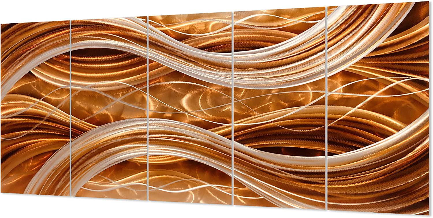 Yihui Arts Abstract Metal Art Wall Decor For Bedroom Modern Wall Sculpture Artwork Pictures On Aluminum
