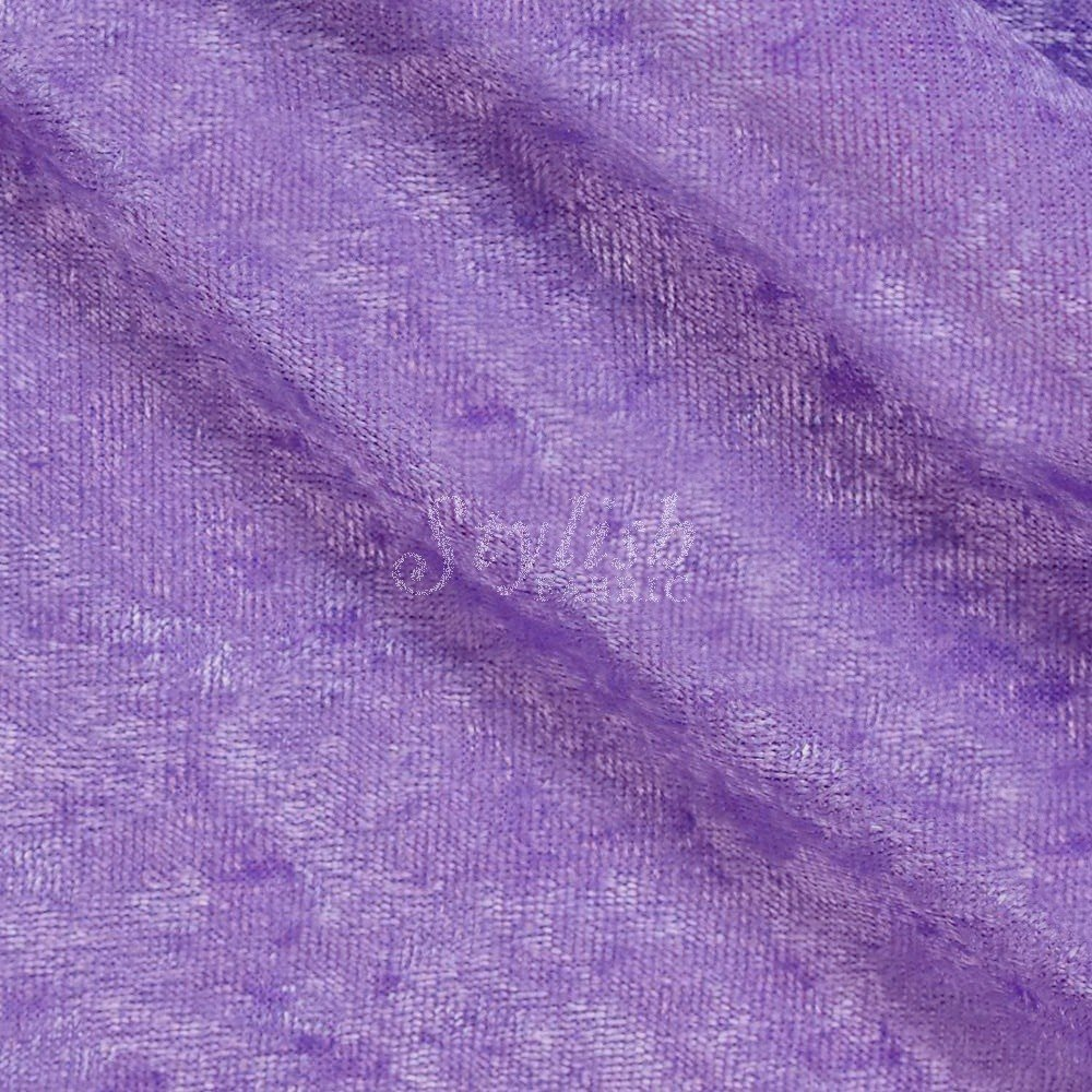 Crushed Panne Velour Fabric Violet by the yard or wholesale - 1 Yard by Stylishfabric   B00NVSW1V4