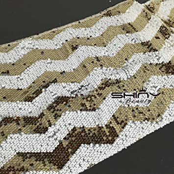 Lovely 14u0026quot;x108u0026quot; Chevron Sequin Table Runner   Light Gold And White  Wedding ...