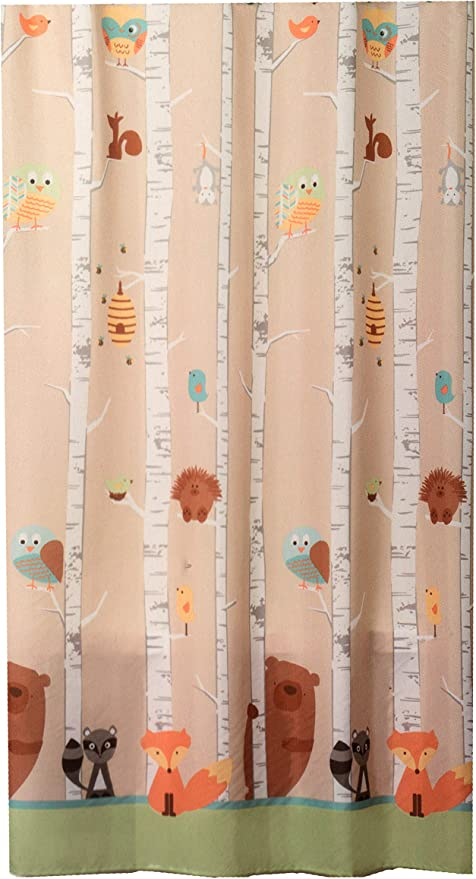 Forest Friends Rug 20 inches by 30 inches Deer and Squirrel Blue Background Mat