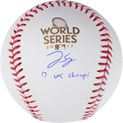 George Springer Houston Astros 2017 MLB World Series Champions Autographed  Logo Baseball with 2017 WS Champs d2c8c1e64