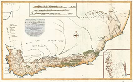 Amazon.com: Vintage Map | 1785 A Geographical Chart of the Cape of on