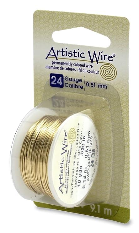 Artistic craft wire gold clr brass notarnish 24 gauge 10 yards artistic craft wire gold clr brass notarnish 24 gauge 10 yards greentooth Images