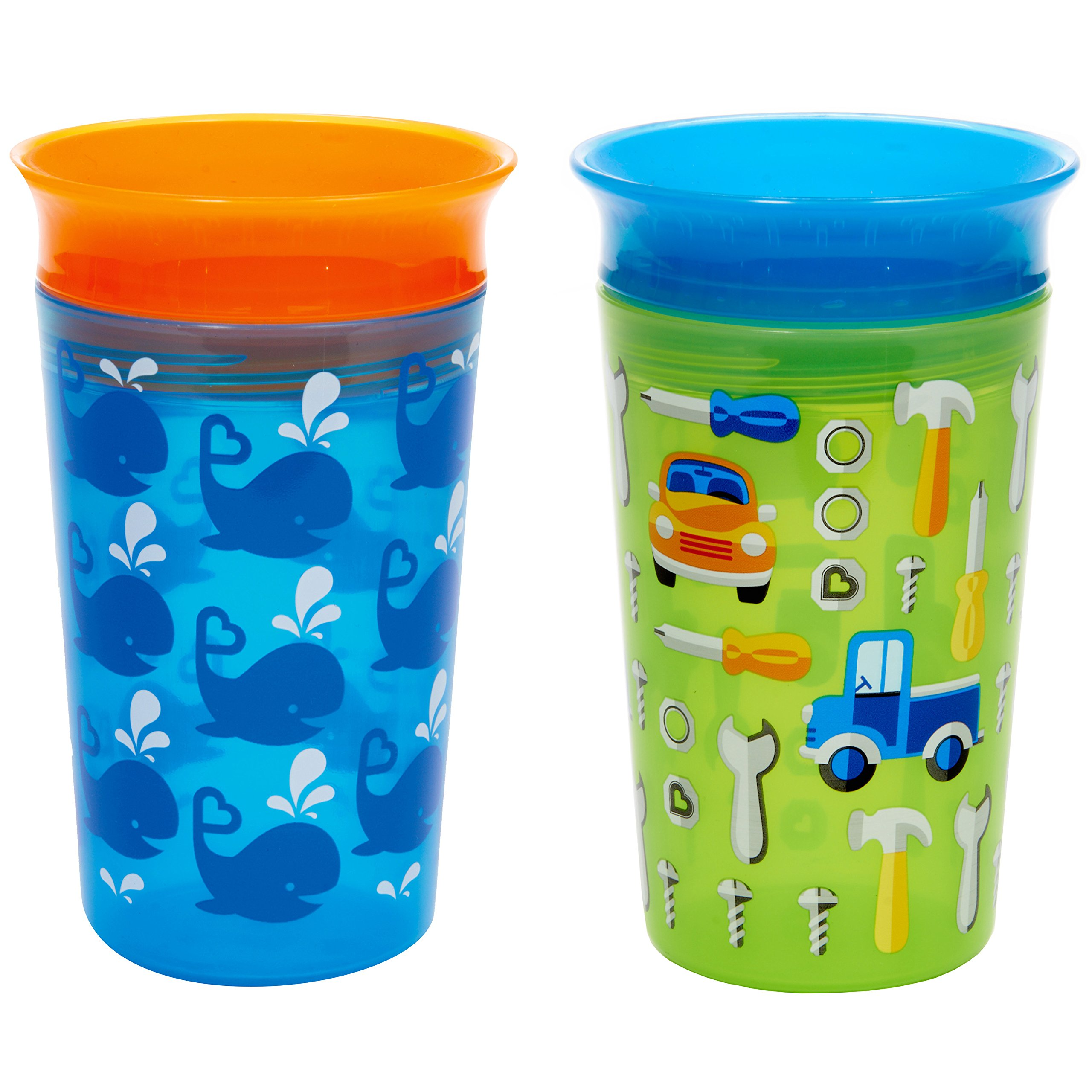 Munchkin Miracle 360 Sippy Cup, Blue/Green, 2 Count by Munchkin