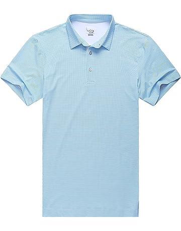 watch 95ab8 3ea85 EAGEGOF Maglietta Uomo T-Shirt Polo da Golf Manica Corta Tecnologiche  Prestazioni Sciolto Fit