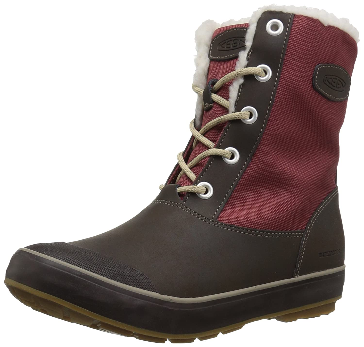 KEEN Women's Elsa Waterproof Winter Boot B01N76GVY5 11 B(M) US|Syrah/Coffee Bean