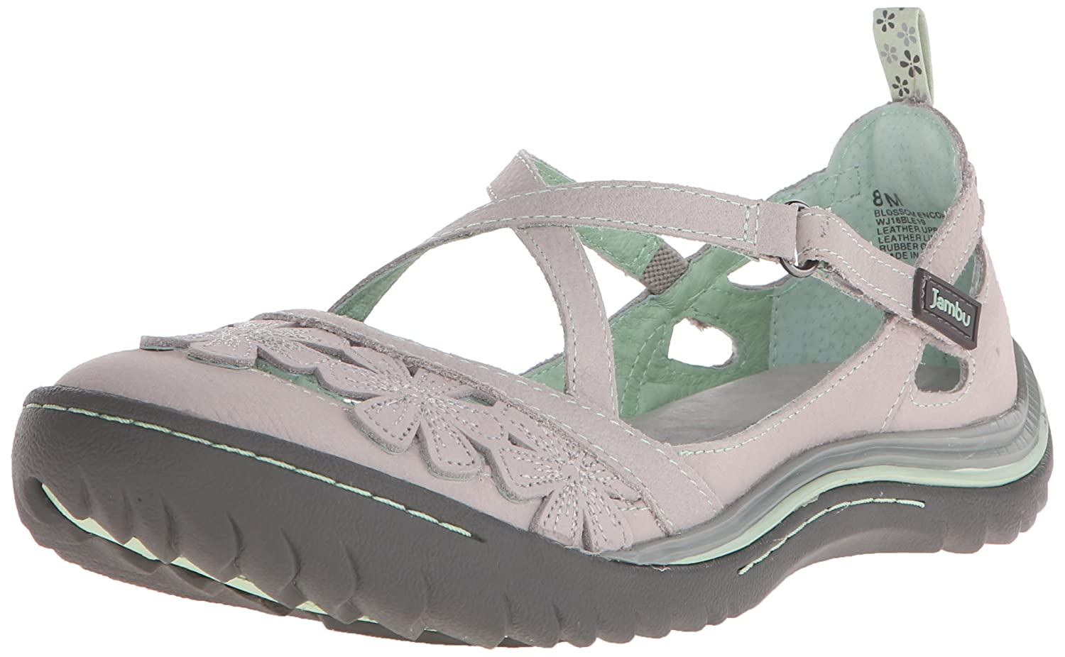 Jambu Women's Blossom Encore Mary Jane Flat B015D7I830 8 B(M) US|Light Grey