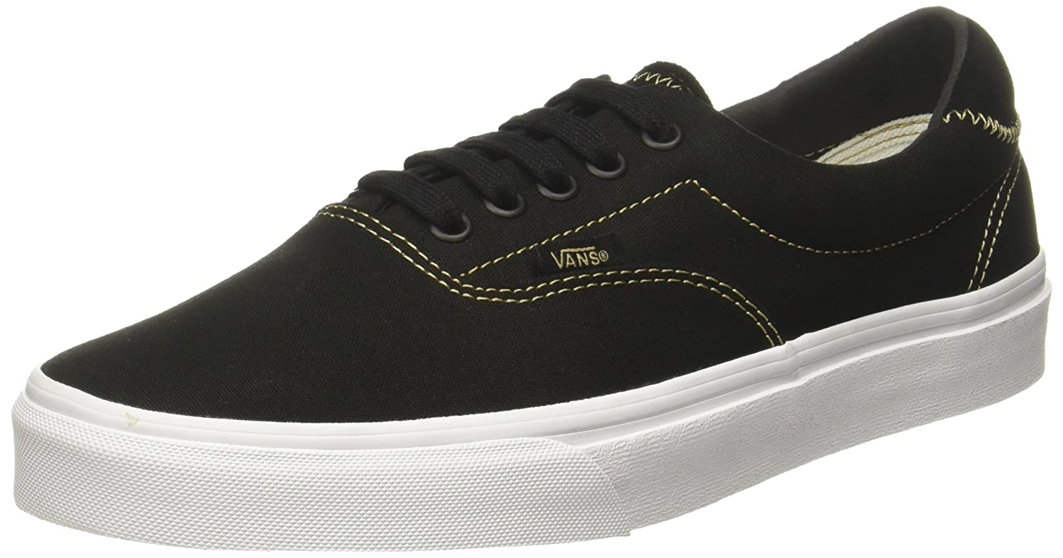 Vans Unisex Era 59 Skate Shoes B01I2B4W34 10 B(M) US Women / 8.5 D(M) US Men|Black/Sand