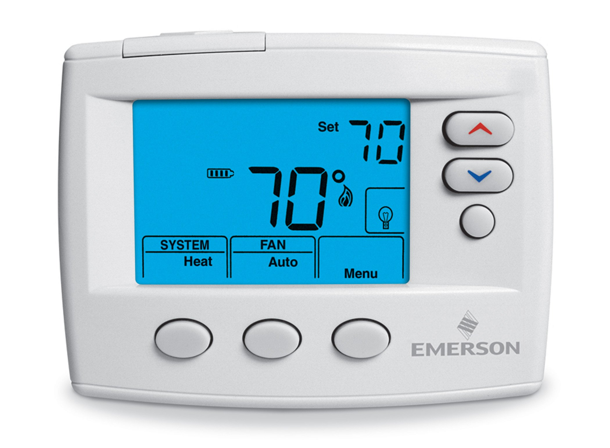Emerson 1F86-0471 Single Stage, Non-programmable Thermostat, 24 Volt or  Millivolt