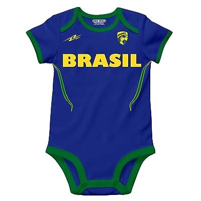 Brasil Soccer Baby Outfit Romper Onesie Mameluco