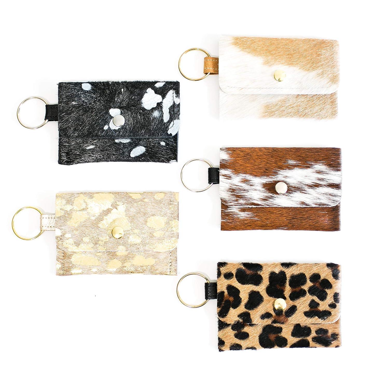 Fashion #L Cowhide Leather Keys Holder Wallet Key Chain Bag Multi-color Portable