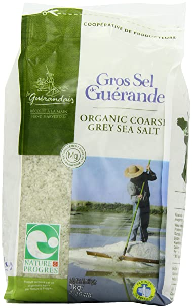 Le Guerandais Coarse Sea Salt In Bag 1 Kg (Pack of 3)