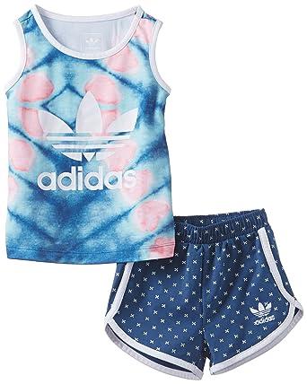 negozio più venduto metà fuori ben noto adidas BB I TANK/P-BLU-Set neonato: Amazon.it: Abbigliamento