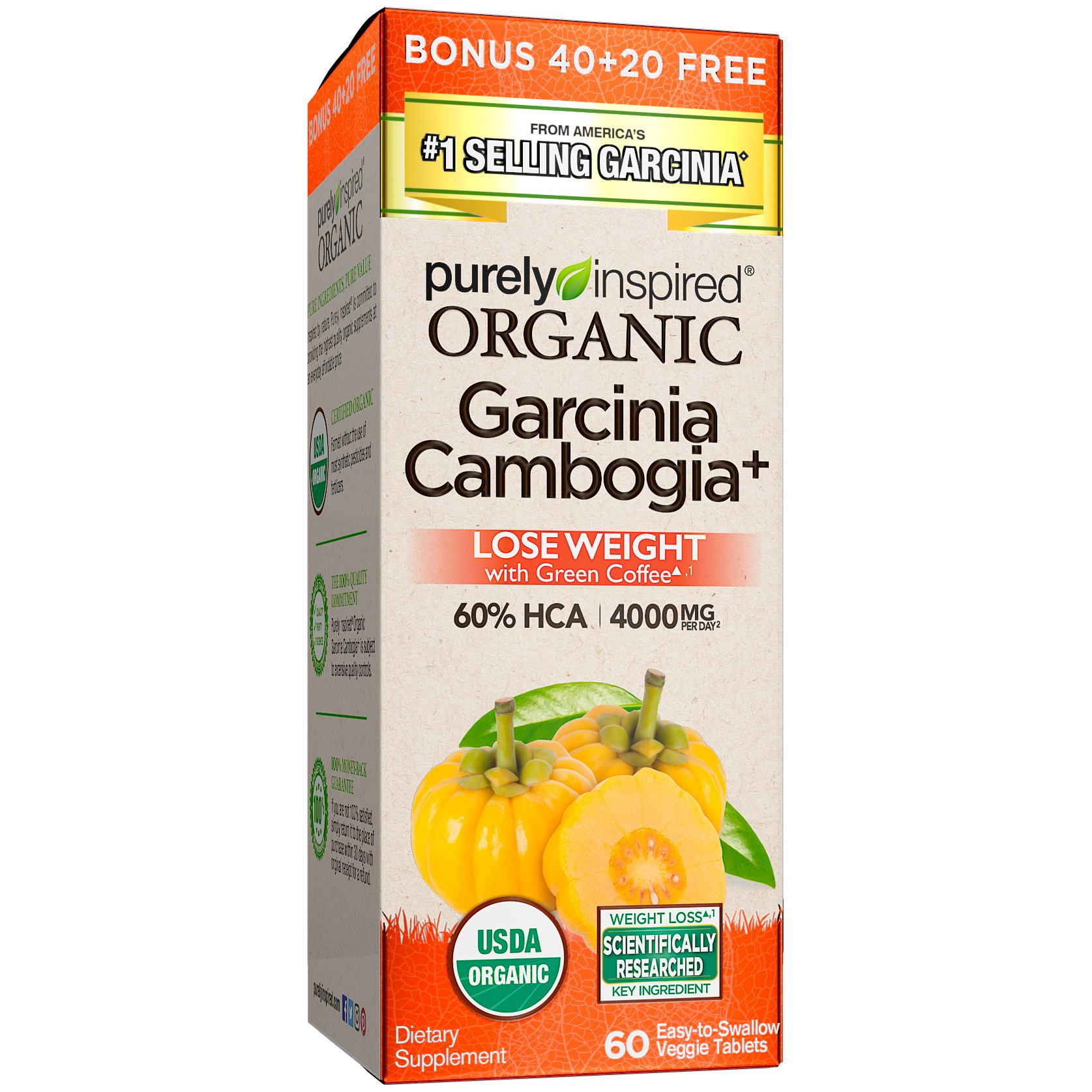 Purely Inspired, Organic Garcinia, 60 Count by Purely Inspired