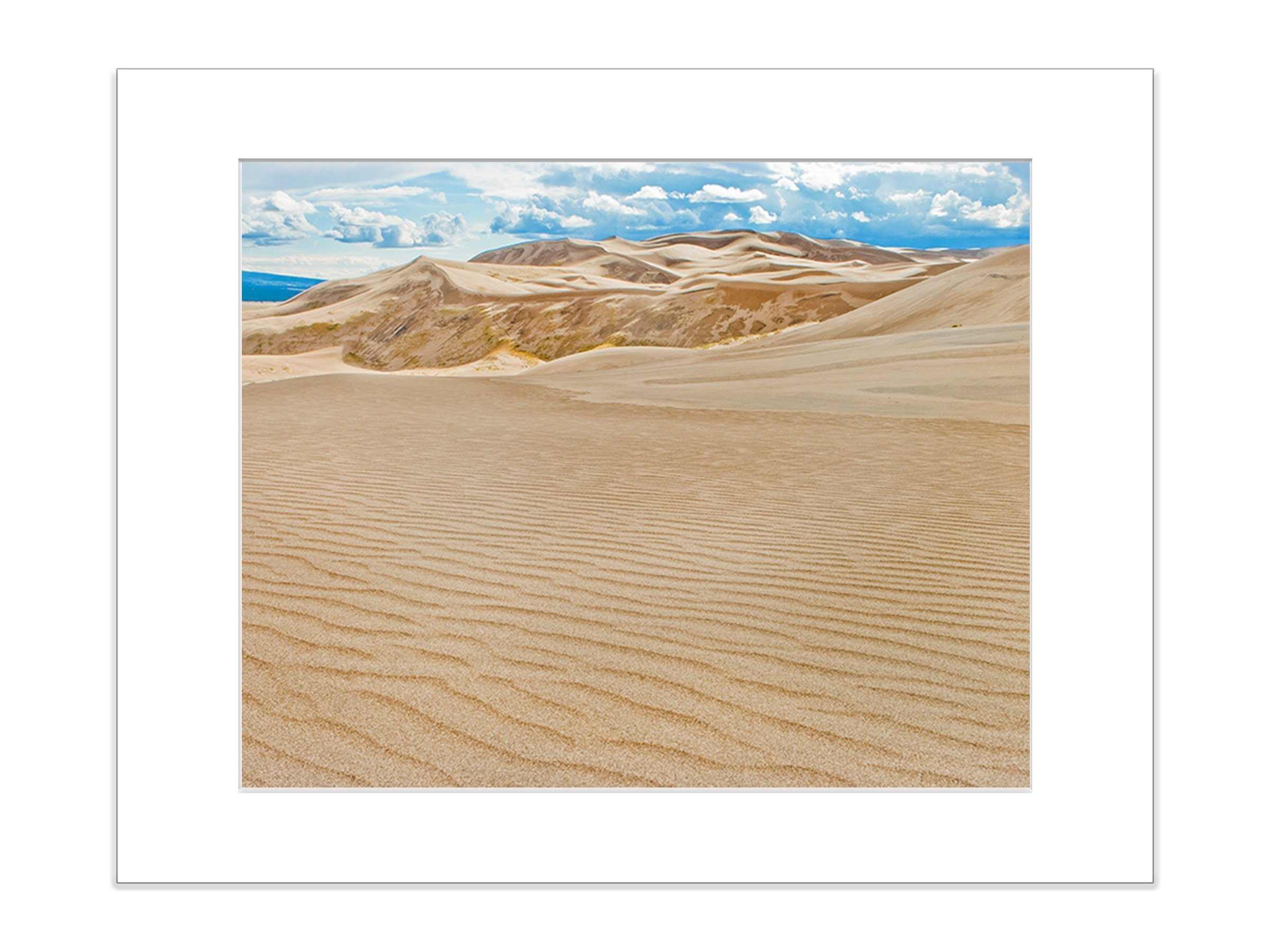 Southwestern Desert Abstract Sand Dunes Wall Decor 8x10 Matted Photo