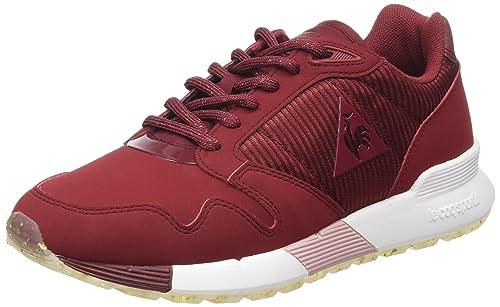 Le Coq Sportif Omega X W Striped Sock, Entrenadores Bajos para Mujer, Rojo (Rouge Ruby Wine), 38 EU: Amazon.es: Zapatos y complementos