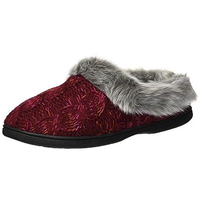 Dearfoams Women's Space-dye Cable Knit Clog Slipper   Shoes