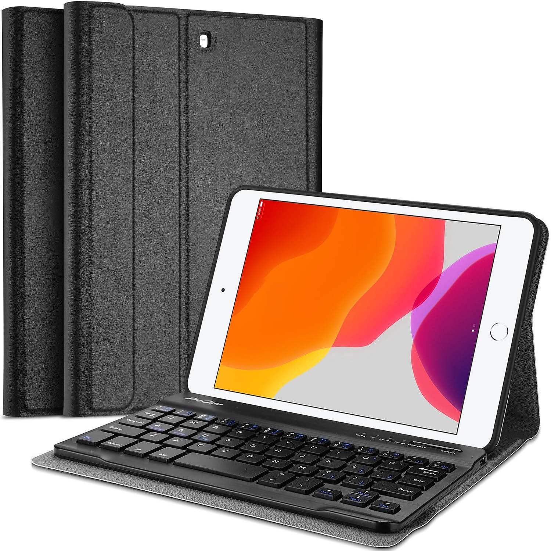 ProCase Funda con Teclado Inglés para iPad Mini 5 2019 / Mini 4 2015 / Mini 3 2014 / Mini 2 2013 / Mini 2012, [US QWERTY] Keyboard Case Tapa ...