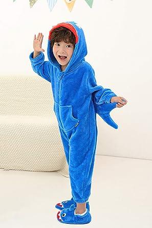 Costume Peluche Onesie pour Enfants Beaucoup danimaux /à Choisir Confortable en Peluche Costume pour Cosplay ou comme Pyjama