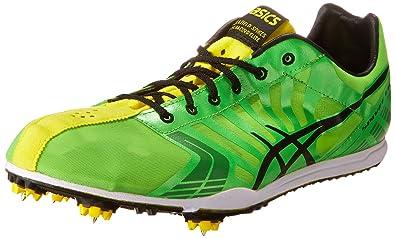 ASICS Men's Spivey LD Running Shoe,Green/Black/Yellow,11.5 ...