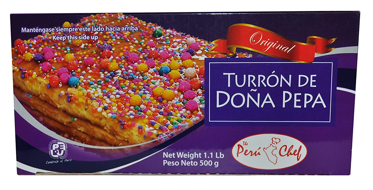 Amazon.com : Turron de Dona Pepa Peru Chef medio kilo c/u 3 pack : Grocery & Gourmet Food
