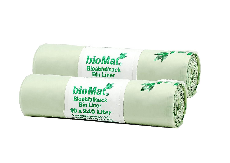 Bolsa de basura biodegradable, cubo de 240 L, 10 unidades ...
