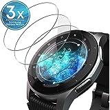 UTECTION 3X Pellicola in Vetro Temperato per Samsung Galaxy Watch 46mm / S3 Frontier/Classic - Ultra Clear AntiGraffio & Anti Urto - Senza Bolle d'Aria - Formato preciso - Protettiva 9H Trasparente