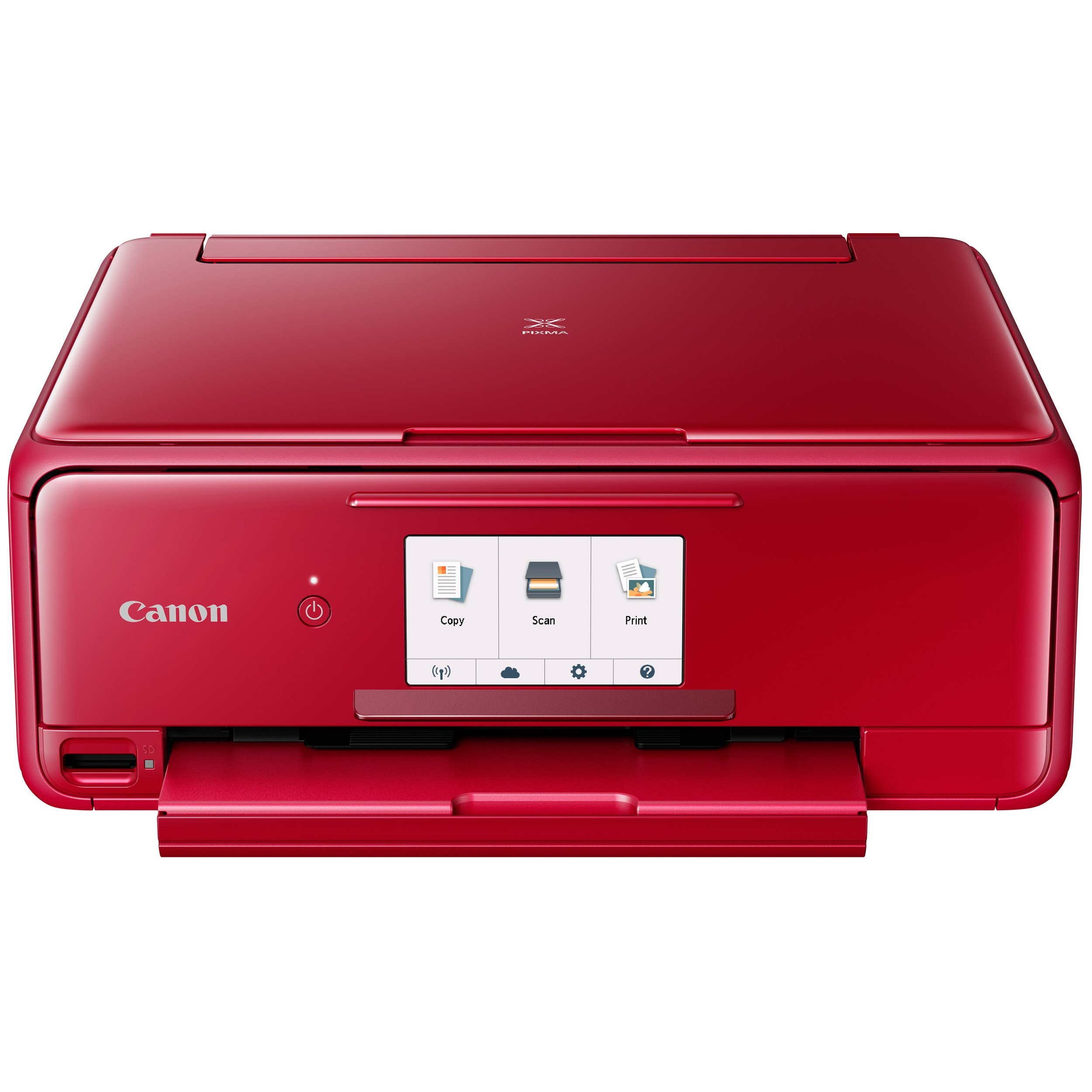Canon Office Products 2230C042 TS8120 Wireless All-In-One Printer with Scanner and Copier: Mobile and Tablet Printing, with Airprint(TM) and Google Cloud Print compatible, Red by Canon