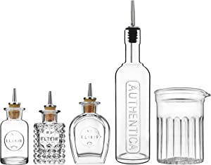 Luigi Bormioli 12324/01 Mixology 5-Piece Barware Set, 0, Clear